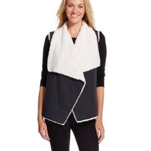 Sweaters - Reversible Faux Sherpa Vest